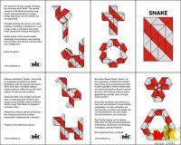 Dřevěná skládačka Snake