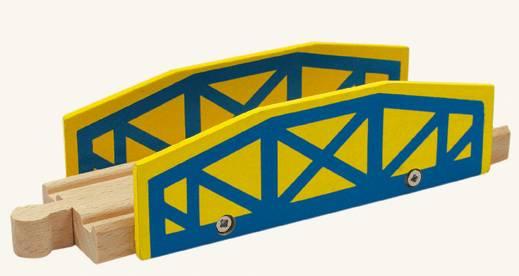 Dřevěné hračky Dřevěné příslušenství k dráze - viadukt Bino