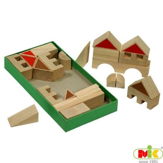 Dřevěná Stavebnice vesnička