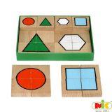 Dřevěné Puzzle malé - geometrie