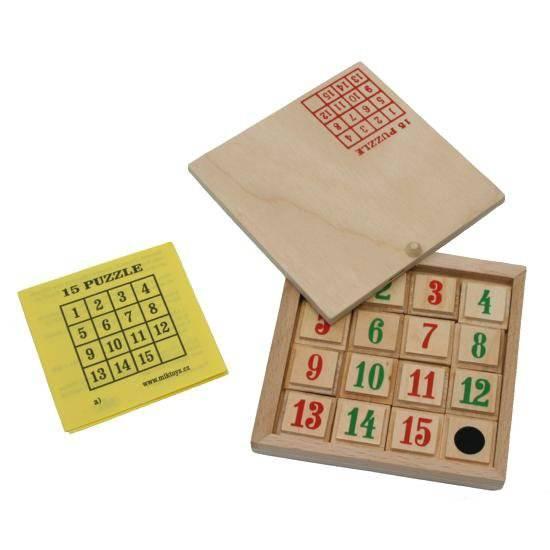 Dřevěné Puzzle 15