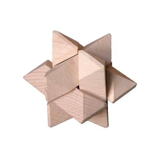 Dřevěný hlavolam Star 2