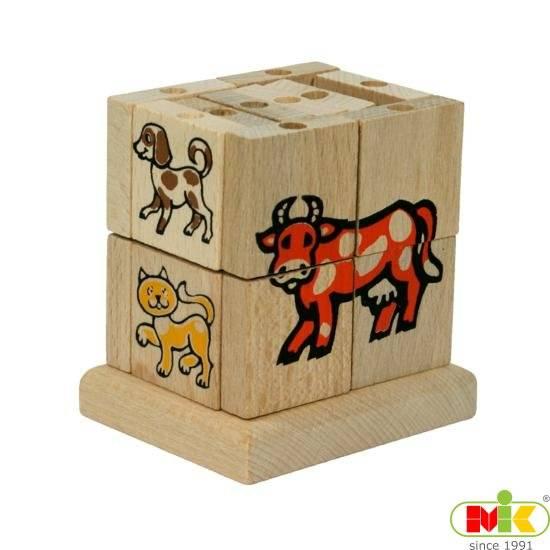 Dřevěná Skládací kostka