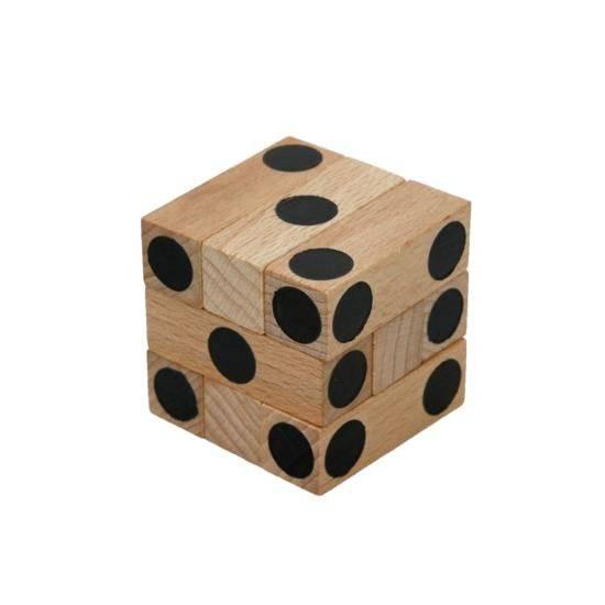 Dřevěný hlavolam Cube