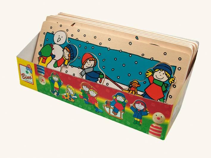 Dřevěné hračky Puzzle jarní období Bino