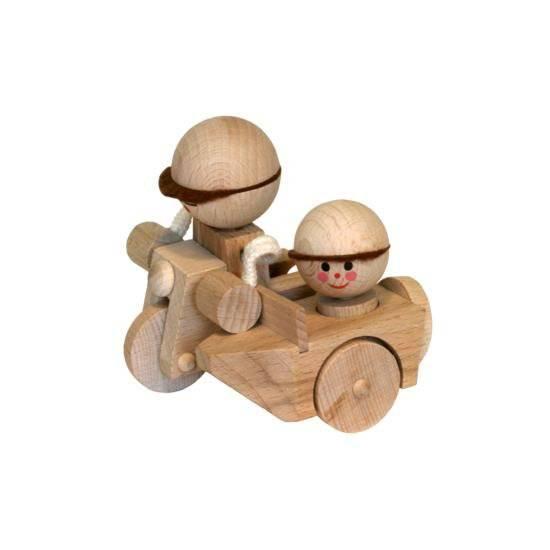 Dřevěná Motorka se sajdou