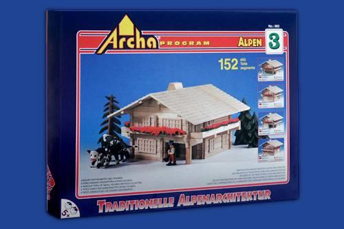 Dřevěná stavebnice Archa Alpen 3