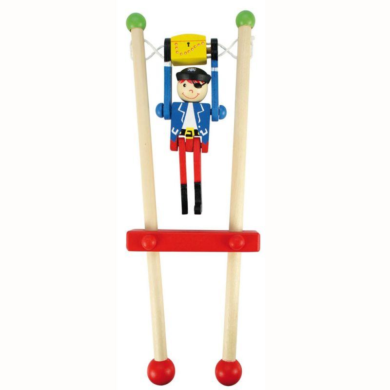 Dřevěné hračky Bigjigs Toys Pirát na hrazdě