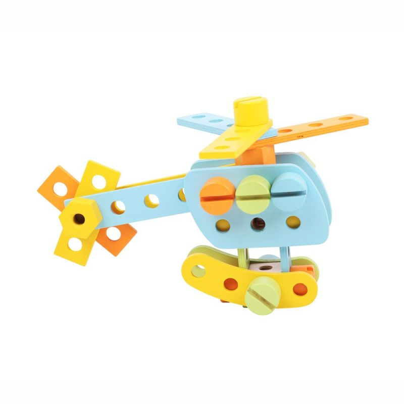 Dřevěné hračky Bigjigs Toys Konstrukční sada 51 dílů