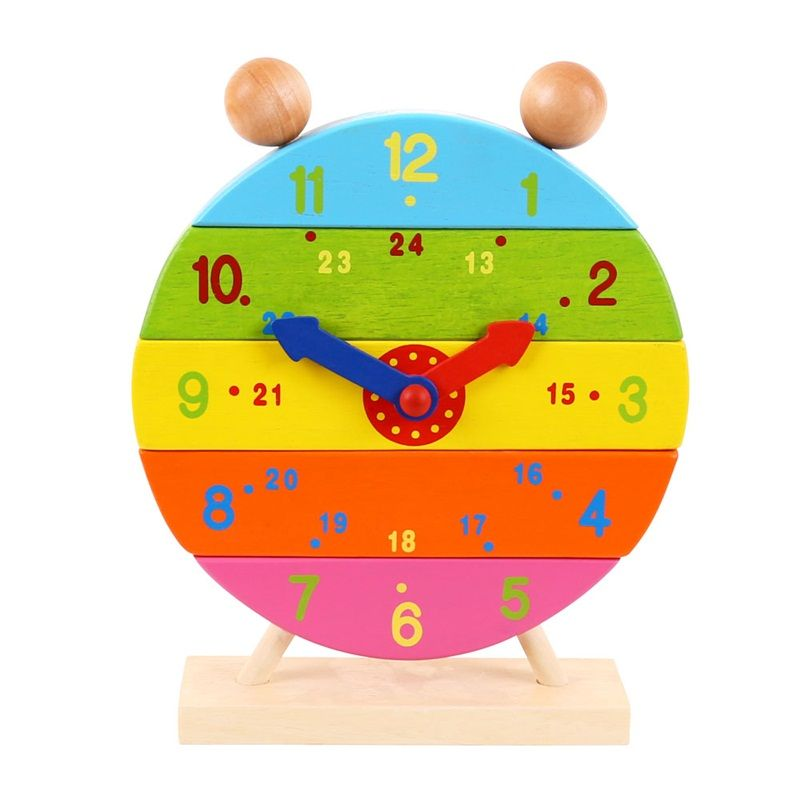 Dřevěné hračky Bigjigs Toys Dřevěné nasazovací hodiny