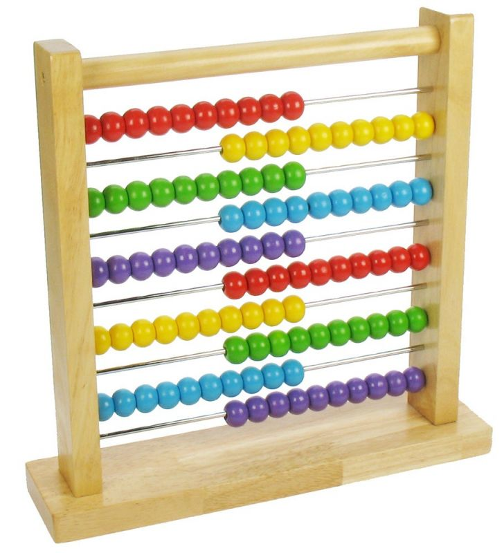 Dřevěné hračky Bigjigs Toys Dřevěné počítadlo