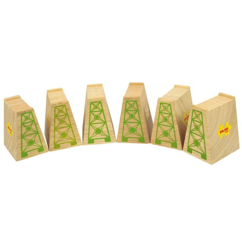 Dřevěné hračky Bigjigs Rail Mostní pilíře 6 ks