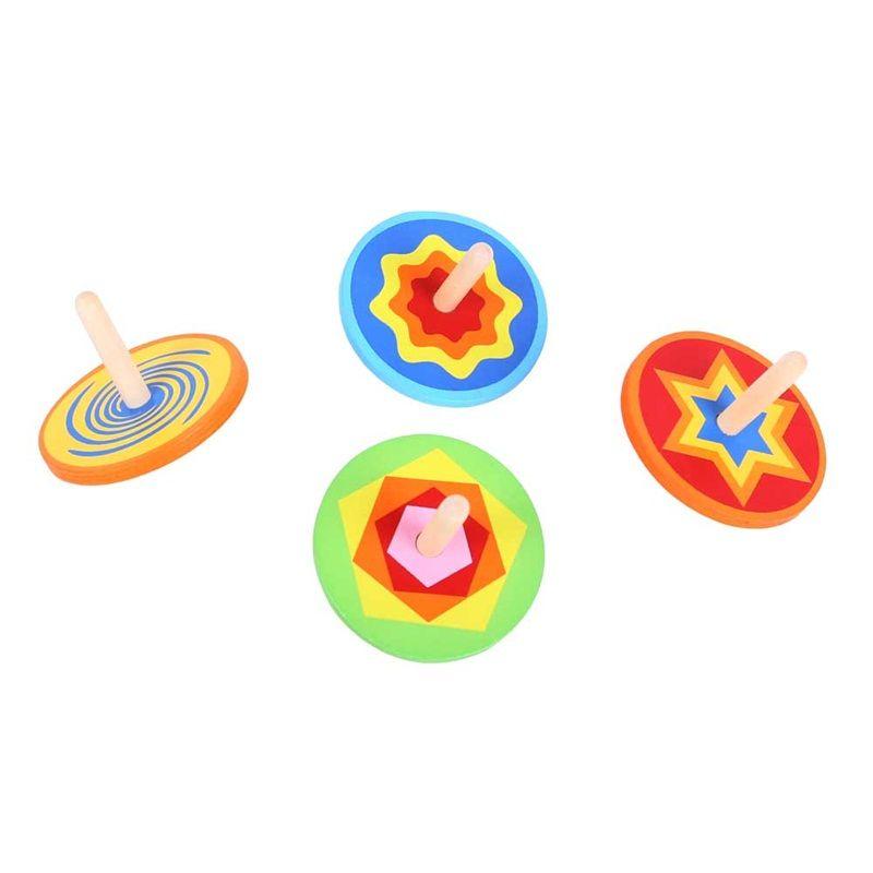 Dřevěné hračky Bigjigs Toys Dřevěná barevná káča 1ks