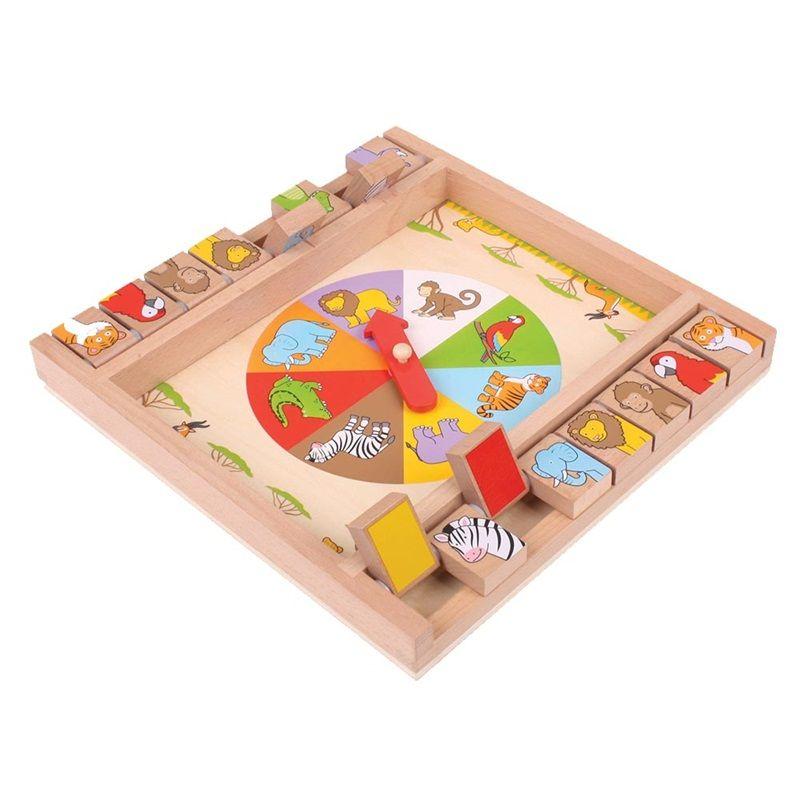 Dřevěné hračky Bigjigs Toys Ruleta se zvířátky