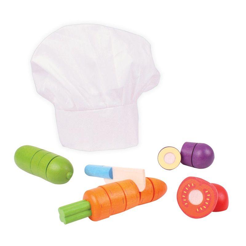 Dřevěné hračky Bigjigs Toys Dřevěná krájecí zelenina s čepicí