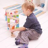 Dřevěné hračky Bigjigs Toys Dřevěná kuličková dráha barevná