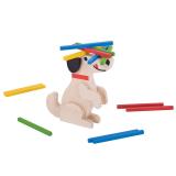 Bigjigs Toys dřevěná motorická hra - Kolik pes unese?