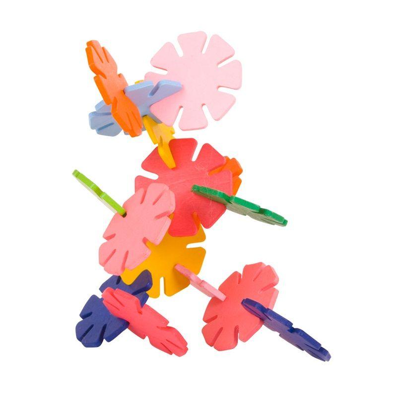 Dřevěné hračky Bigjigs Toys Dřevěná stavebnice Daisy fun