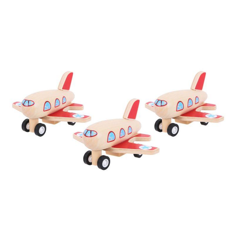 Dřevěné hračky Bigjigs Toys Dřevěné natahovací letadlo 1 ks