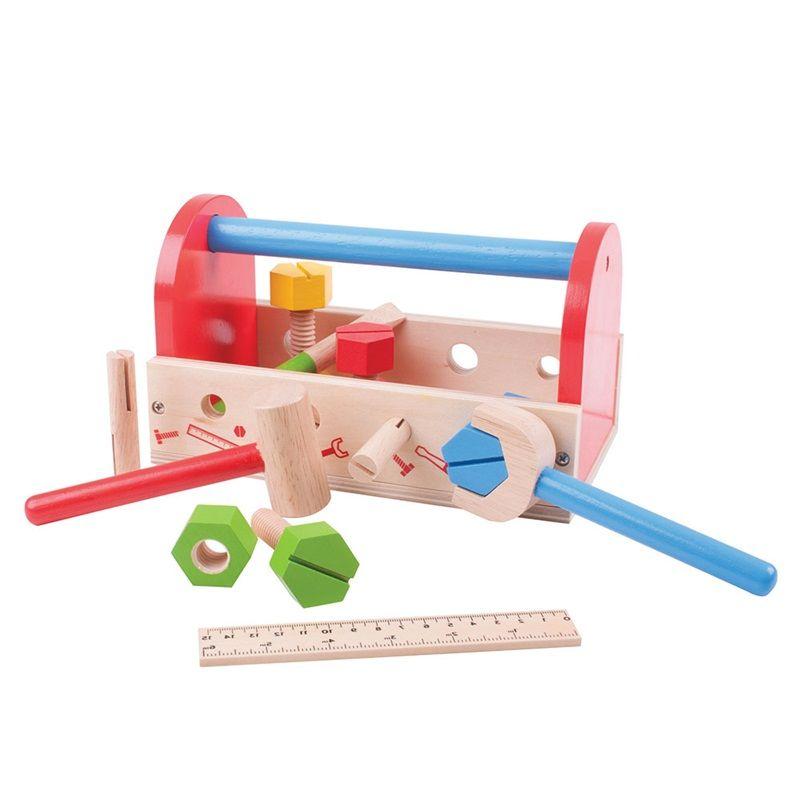 Dřevěné hračky Bigjigs Toys Moje nářadí v přepravce