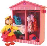 Bigjigs Toys dřevěné hračky - Šatník panenky Daisy
