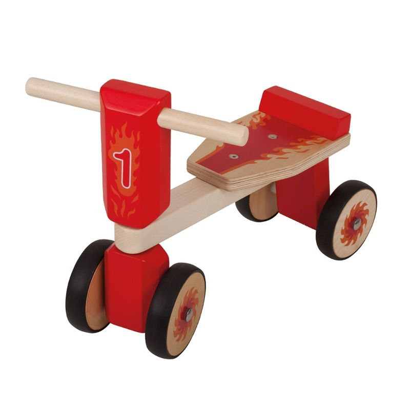 Dřevěné hračky Bigjigs Toys Dřevěné odrážedlo červená tříkolka
