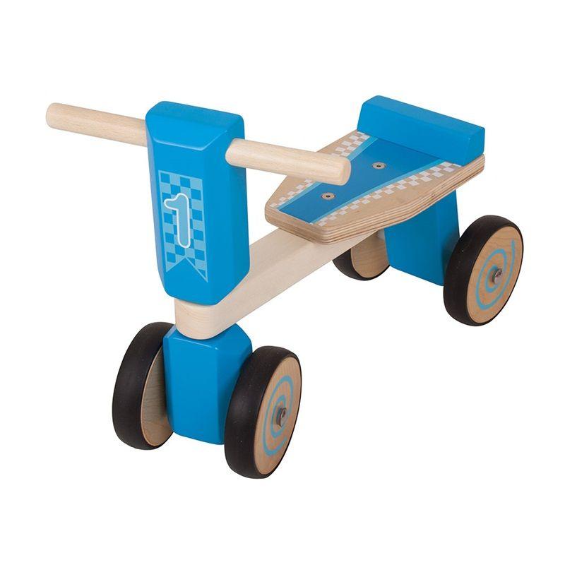 Dřevěné hračky Bigjigs Toys Dřevěné odrážedlo modrá tříkolka