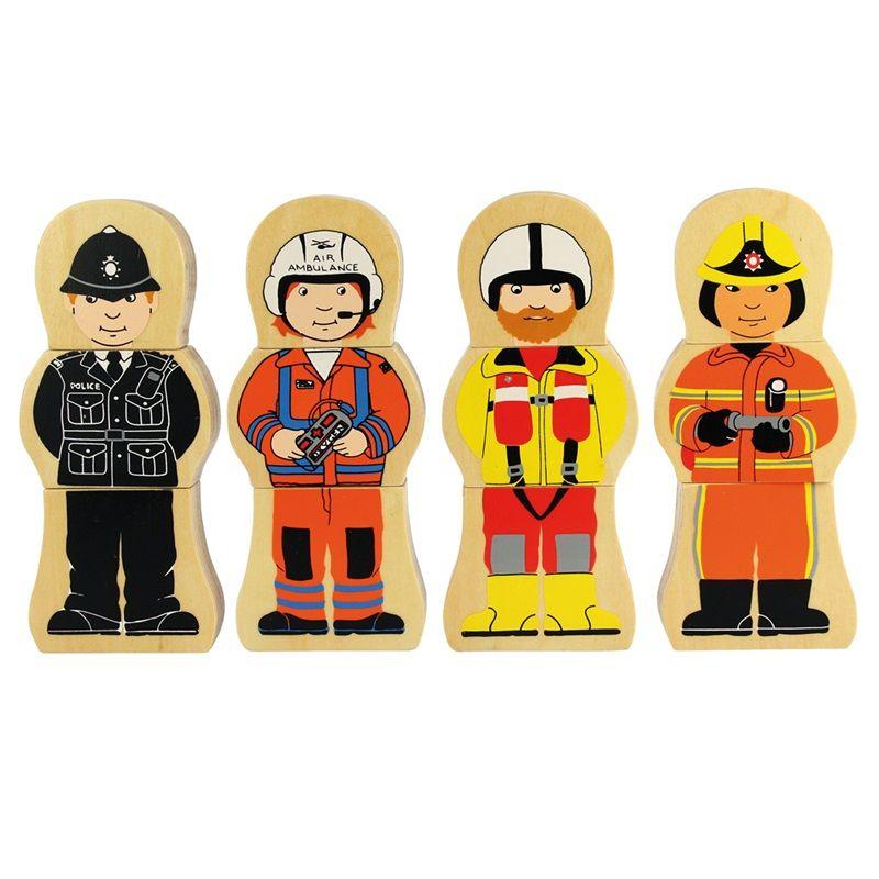 Dřevěné hračky Bigjigs Toys Dřevěné puzzle profese