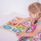 Dřevěné hračky Bigjigs Toys Jak se píšou čísla