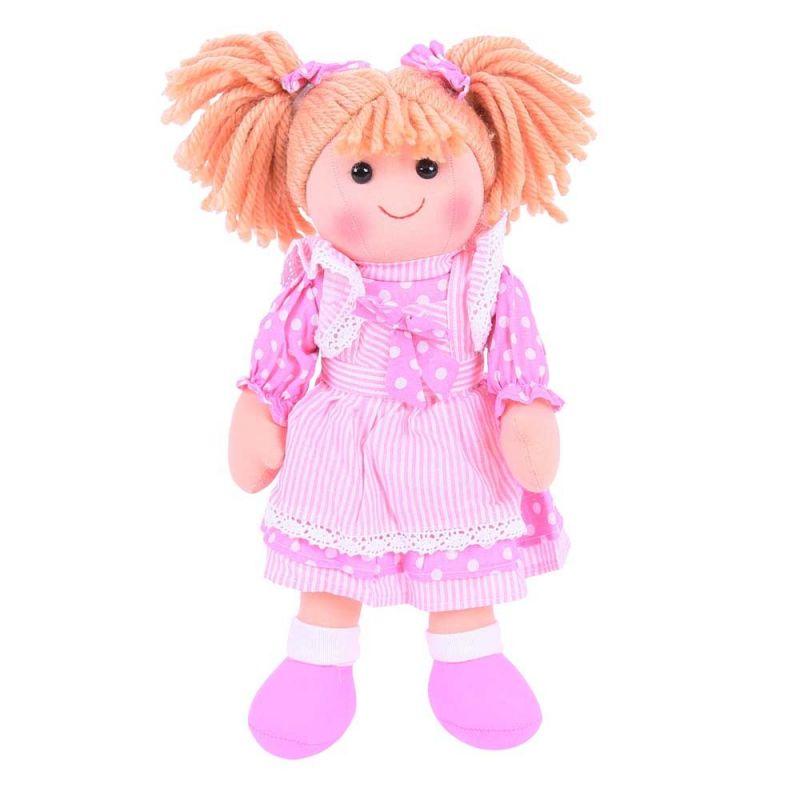 Dřevěné hračky Bigjigs Toys Látková panenka Anna 34 cm