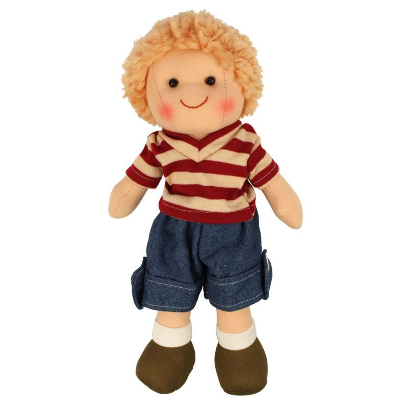 Dřevěné hračky Bigjigs Toys Látková panenka Harry 28 cm