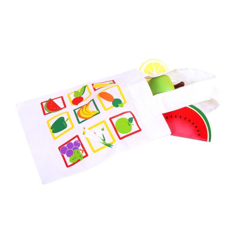 Dřevěné hračky Bigjigs Toys Nákupní taška na potraviny