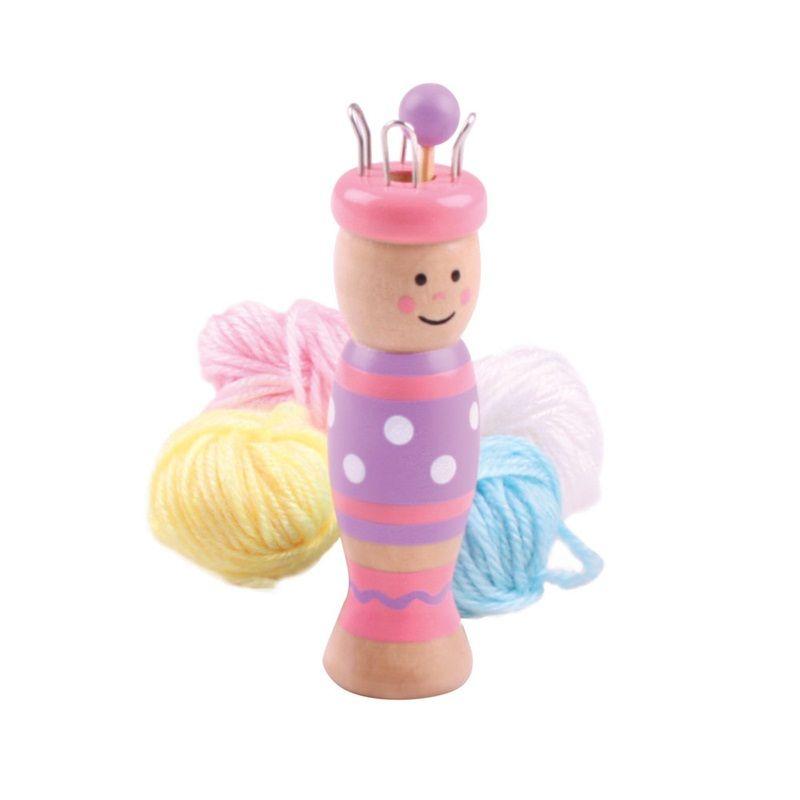 Dřevěné hračky Bigjigs Toys Pletací panenka