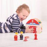 Dřevěné hračky Bigjigs Toys Hasiči v kufříku