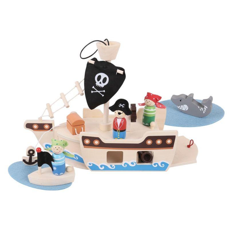 Dřevěné hračky Bigjigs Toys Piráti