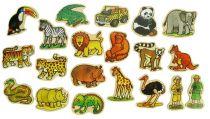 Dřevěné dekorace - dřevěné magnetky - Jungle 20ks
