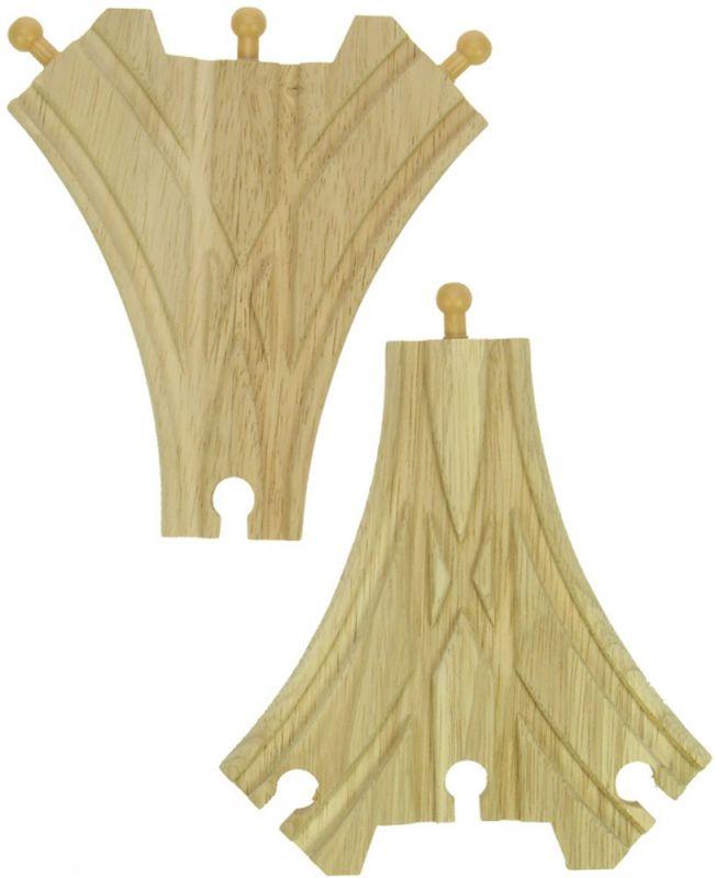Dřevěné hračky Bigjigs Rail Dřevěné koleje třícestná výhybka 2ks