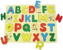 Dřevěné vkládací puzzle Bigjigs - Anglická abeceda s obrázky
