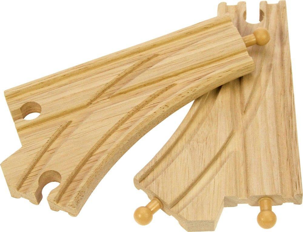Dřevěné hračky Bigjigs Rail Standartní výhybka 2ks