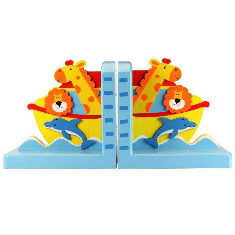Dřevěné hračky Bigjigs Toys Opěrky knih Noemova archa sada 2 ks