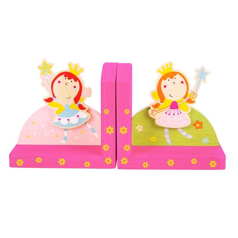 Dřevěné hračky Bigjigs Toys Opěrky knih víly sada 2 ks