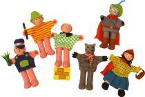 Dřevěné hračky Bigjigs Toys Prstoví maňásci pohádkové postavičky