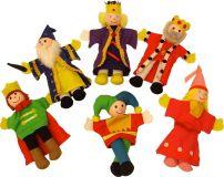 Bigjigs Toys Prstoví maňásci pohádkové postavičky z království