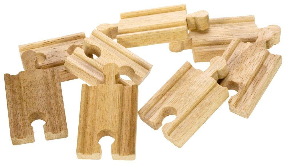 Dřevěné hračky Bigjigs Rail Spojky kolejí 7cm 8ks