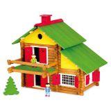 Dřevěné hračky Jeujura Dřevěná stavebnice 175 dílů