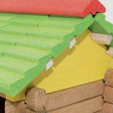 Dřevěné hračky Jeujura Dřevěná stavebnice 180 dílů Velká farma