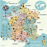 Vilac Magnetická mapa Francie