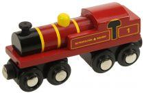 Bigjigs Rall Dřevěná replika lokomotivy Metropolitan