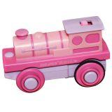 Bigjigs Rall Elektrická lokomotiva Mašinka růžová