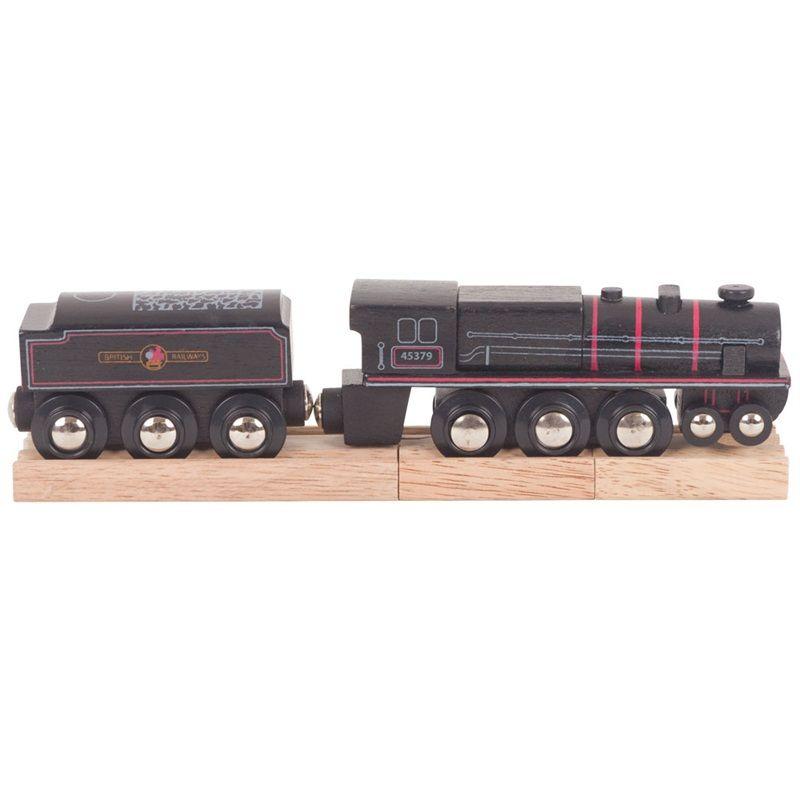 Dřevěné hračky Bigjigs Rail Dřevěná replika lokomotivy Black 5 engine